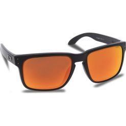 Okulary przeciwsłoneczne OAKLEY - Holbrook OO9102-E255 Matte Black/Prizm Ruby. Czarne okulary przeciwsłoneczne męskie Oakley, z tworzywa sztucznego. W wyprzedaży za 479.00 zł.