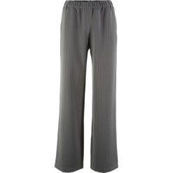 Spodnie Marlena, szerokie nogawki bonprix antracytowo-biały w paski. Spodnie materiałowe damskie marki DOMYOS. Za 89.99 zł.