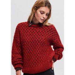 Sweter z domieszką wełny - Bordowy. Czerwone swetry damskie Reserved, z wełny. Za 139.99 zł.