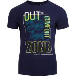 T-shirt męski TSM617 - ciemny granatowy - Outhorn. Niebieskie t-shirty męskie Outhorn, na lato, z bawełny. Za 39.99 zł.