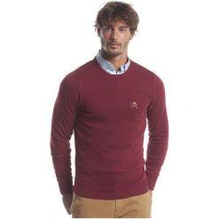 Polo Club C.H..A Sweter Męski M Burgundowy. Czerwone swetry przez głowę męskie Polo Club C.H..A, z okrągłym kołnierzem. W wyprzedaży za 239.00 zł.
