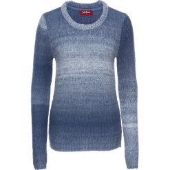 Sweter, długi rękaw bonprix indygo-biały. Swetry damskie marki bonprix. Za 59.99 zł.