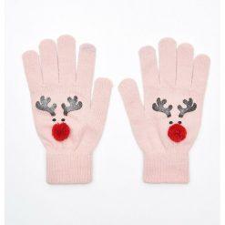 Pięciopalczaste rękawiczki z aplikacją - Różowy. Rękawiczki damskie marki B'TWIN. Za 19.99 zł.
