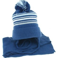Czapka dziecięca z szalikiem CZ+S 018 B. Niebieskie czapki dla dzieci Proman. Za 44.66 zł.