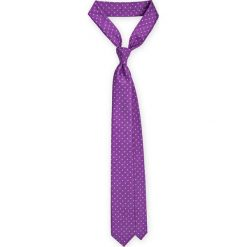 Krawat Fioletowy w kropki. Fioletowe krawaty i muchy LANCERTO, w kropki, z mikrofibry, eleganckie. Za 79.90 zł.