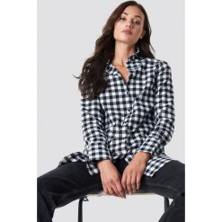 Rut&Circle Długa koszula w kratkę - Black,White,Multicolor. Białe koszule damskie Rut&Circle, w kratkę, z materiału, z długim rękawem. Za 161.95 zł.
