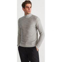 Sweter z półgolfem - Jasny szar. Szare swetry przez głowę męskie Reserved. Za 159.99 zł.