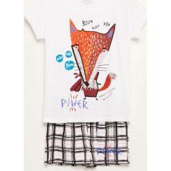 Piżama z szortami - Biały. Białe piżamy damskie Reserved. Za 59.99 zł.