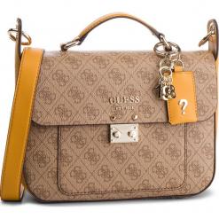 Torebka GUESS - HWSG71 74180 BRO MLT. Brązowe torebki do ręki damskie Guess, z aplikacjami, ze skóry ekologicznej. Za 599.00 zł.