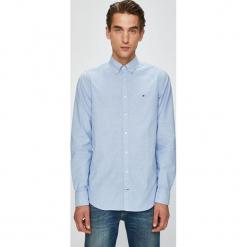 Tommy Hilfiger - Koszula. Szare koszule męskie Tommy Hilfiger, z bawełny, button down, z długim rękawem. Za 299.90 zł.