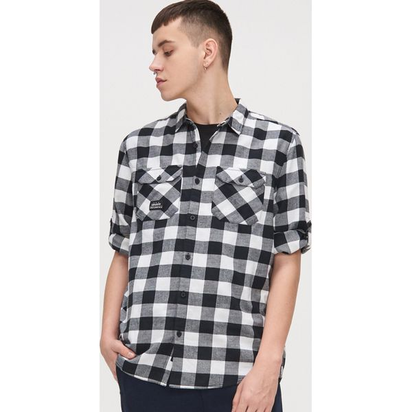 Czarne koszule męskie ze sklepu Cropp, bez ramiączek  uqZh3