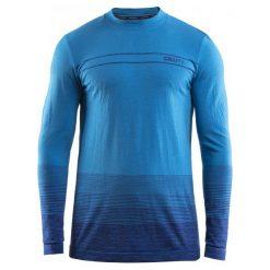 Craft Koszulka Męska Wool Comfort Niebieska M. Niebieskie koszulki sportowe męskie Craft, ze skóry, z długim rękawem. W wyprzedaży za 189.00 zł.