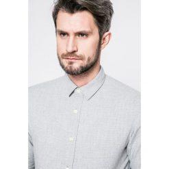 Selected - Koszula. Szare koszule męskie Selected, z bawełny, z klasycznym kołnierzykiem, z długim rękawem. W wyprzedaży za 119.90 zł.