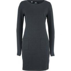 Sukienka ze stretchem z naszywanymi kieszeniami bonprix czarny. Czarne sukienki damskie bonprix. Za 44.99 zł.