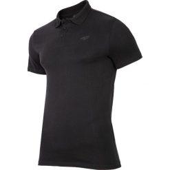 Koszulka polo męska TSM301 - głęboka czerń. Czarne koszulki polo męskie 4f, z bawełny. Za 69.99 zł.