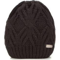 Czapka damska 87-HF-027-1. Brązowe czapki i kapelusze damskie Wittchen, z dzianiny. Za 89.00 zł.
