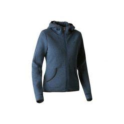 Bluza na zamek z kapturem Gym & Pilates 900 damska. Niebieskie bluzy damskie DOMYOS, z bawełny. Za 109.99 zł.