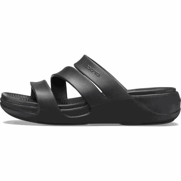Crocs klapki damskie Monterey Wedge W (206304) 3839 czarne