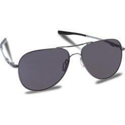 Okulary przeciwsłoneczne OAKLEY - Elmont (Large) OO4119-1460 Gunmetal/Prizm Grey. Szare okulary przeciwsłoneczne damskie Oakley, z tworzywa sztucznego. W wyprzedaży za 549.00 zł.