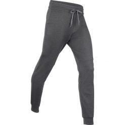 Spodnie dresowe termoaktywne funkcyjne, długie bonprix szary melanż. Szare spodnie dresowe damskie bonprix, melanż, z dresówki. Za 89.99 zł.