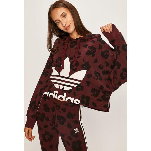 bluza adidas fioletowa z wzorami