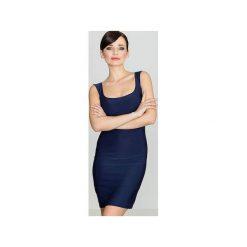 Sukienka K081 Granat. Niebieskie sukienki damskie Lenitif. Za 99.00 zł.