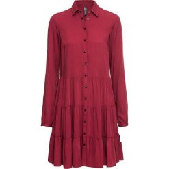 Sukienka bonprix pomarańczowo-czerwony. Czerwone sukienki damskie bonprix. Za 129.99 zł.