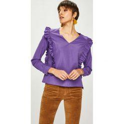 Trendyol - Bluzka. Szare bluzki damskie Trendyol, z bawełny, casualowe. W wyprzedaży za 59.90 zł.
