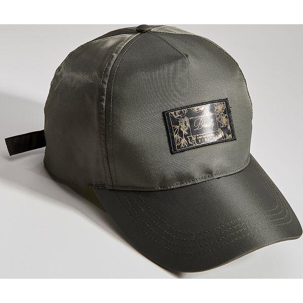 d9d316277 Czapka z daszkiem z łączonych tkanin - Khaki - Czapki i kapelusze ...