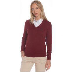 Polo Club C.H..A Sweter Damski L Burgundowy. Czerwone swetry damskie Polo Club C.H..A, dekolt w kształcie v. W wyprzedaży za 239.00 zł.