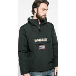 Napapijri - Kurtka. Czarne kurtki męskie Napapijri, z materiału. W wyprzedaży za 639.90 zł.