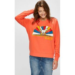 Wrangler - Bluza. Różowe bluzy damskie Wrangler, z nadrukiem, z bawełny. Za 199.90 zł.