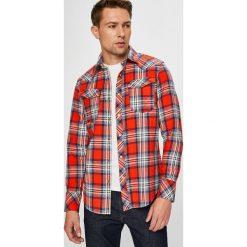 G-Star Raw - Koszula. Szare koszule męskie G-Star Raw, w kratkę, z bawełny, z długim rękawem. Za 559.90 zł.