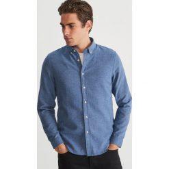 Koszula z drobnym wzorem - Niebieski. Niebieskie koszule męskie Reserved. Za 139.99 zł.