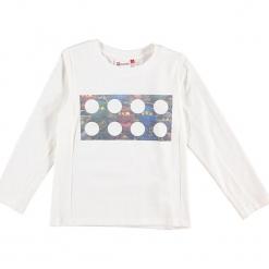 """Koszulka """"Thomas 717"""" w kolorze kremowym. Zielone t-shirty dla chłopców marki Lego Wear Fashion, z bawełny, z długim rękawem. W wyprzedaży za 59.95 zł."""