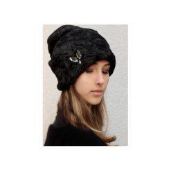 Czapka Diamonds & POOH. Czarne czapki i kapelusze damskie Chapoosie, z bawełny. Za 125.10 zł.
