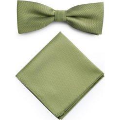 Mucha z poszetką MUZ0001279. Zielone krawaty i muchy Giacomo Conti, z mikrofibry, eleganckie. Za 69.00 zł.