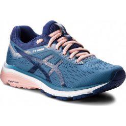 Buty ASICS - GT-1000 7 1012A030  Azure/Blue Print 400. Niebieskie obuwie sportowe damskie Asics, z materiału. W wyprzedaży za 349.00 zł.