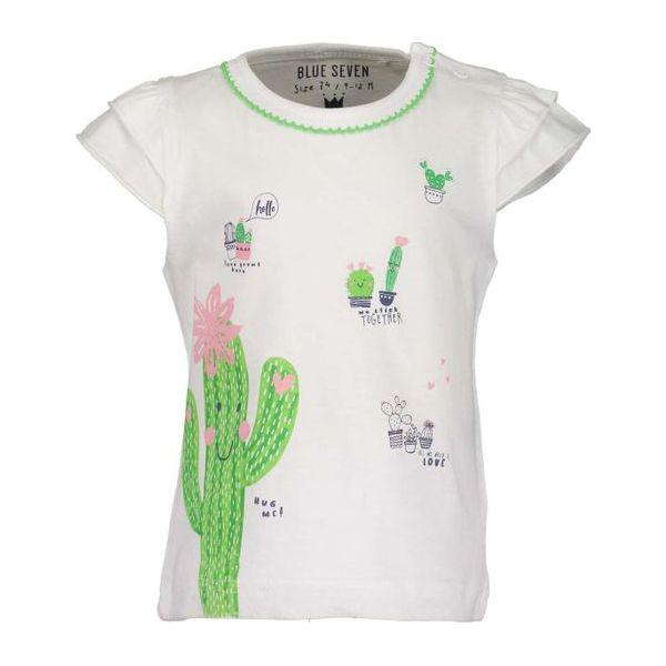 5cc0f11cba5f62 Blue Seven Koszulka Dziewczęca 68 Biały - Bluzki dla dziewczynek ...