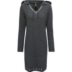 Sukienka shirtowa z kapturem bonprix antracytowy melanż. Szare sukienki damskie bonprix, melanż, z kapturem. Za 89.99 zł.