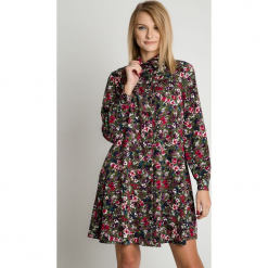 Wiskozowa sukienka z kołnierzykiem BIALCON. Szare sukienki damskie BIALCON, na jesień, z wiskozy. Za 279.00 zł.