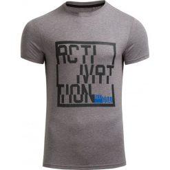 T-shirt męski TSM607 - ŚREDNI SZARY MELANŻ - Outhorn. Szare t-shirty męskie Outhorn, na jesień, melanż, z bawełny. W wyprzedaży za 27.99 zł.