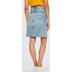 Tommy Jeans - Spódnica. Szare spódnice damskie Tommy Jeans, z bawełny. W wyprzedaży za 349.90 zł.