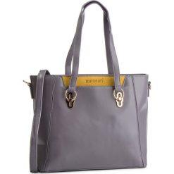 Torebka MONNARI - BAGB720-019 Szary Z Żółtym. Szare torebki do ręki damskie Monnari, z materiału. W wyprzedaży za 209.00 zł.