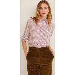 Mango - Koszula Mayo. Szare koszule damskie Mango, w kratkę, z bawełny, z długim rękawem. Za 139.90 zł.