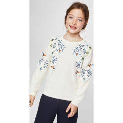 Mango Kids - Sweter dziecięcy Garden 110-164 cm. Swetry dla dziewczynek Mango Kids, z bawełny, z okrągłym kołnierzem. W wyprzedaży za 49.90 zł.