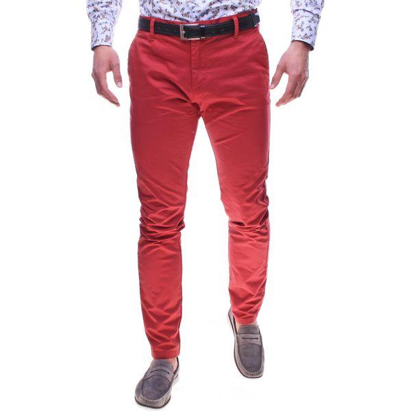 c5367ba5 Spodnie męskie chinosy czerwone Recea