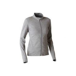 Bluza na zamek Gym & Pilates 100 damska. Szare bluzy damskie DOMYOS, z bawełny. Za 54.99 zł.