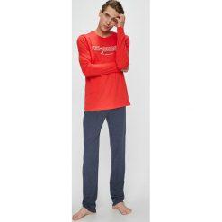 Henderson - Piżama Focus. Szare piżamy męskie Henderson, z nadrukiem, z bawełny. W wyprzedaży za 79.90 zł.