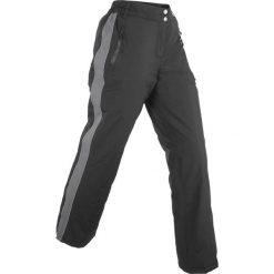 Funkcyjne spodnie ocieplane, długie bonprix czarno-szary. Spodnie materiałowe damskie marki DOMYOS. Za 139.99 zł.
